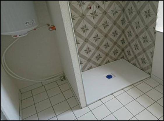 Carrelage d'une douche